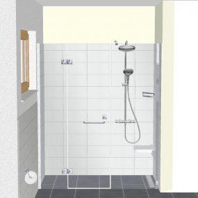 3D Perspektivansicht der Dusche