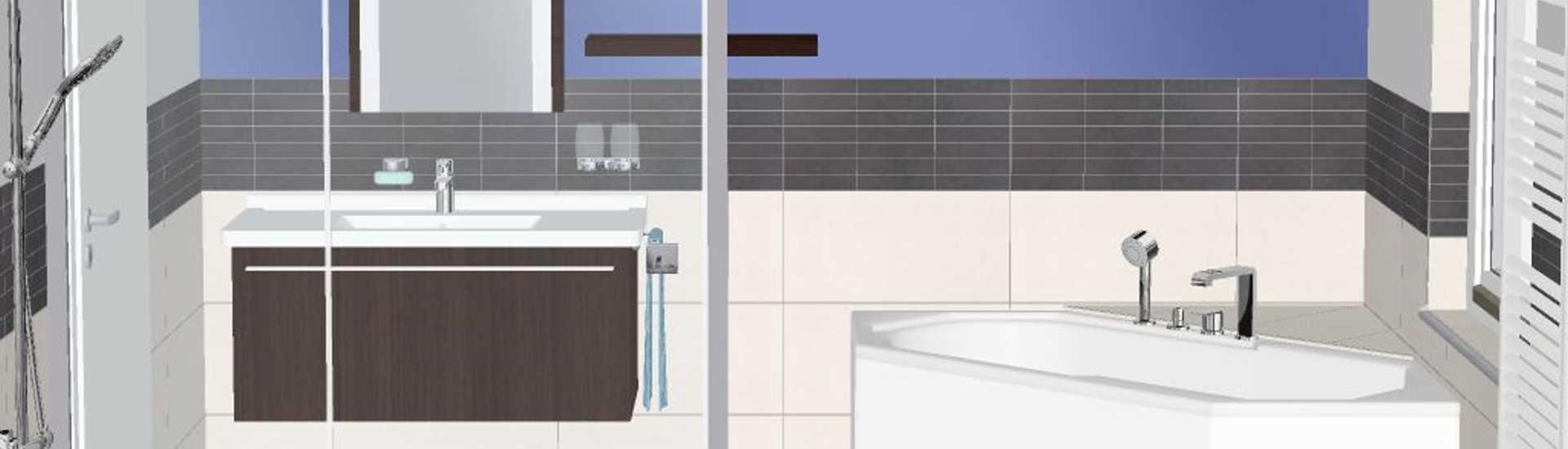 3D Badplanung - Planungsbeispiel von Belz Haustechnik - Badplanung und Badsanierung Edewecht